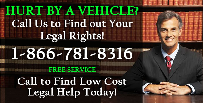 Pedestrian hurt by a car - call for a lawyer today